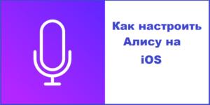 Настроить Алису на iOS